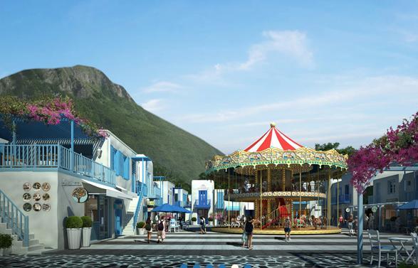 Santorini Park Cha-Am (ซานโตรินี่ พาร์ค ชะอำ) แหล่งช้อปปิ้งและสวนสนุกแห่งใหม่ ชะอำ-หัวหิน เพชรบุรี และแผนที่วิธีเดินทาง