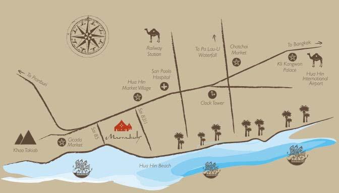 แผนที่ Map มาราเกชหัวหินรีสอร์ทแอนด์สปา (Marrakesh Hua Hin Resort & Spa) รีสอร์ทสไตล์โมรอคโค บรรยากาศโรแมนติกและสระว่ายน้ำสวยๆ 24 ชม