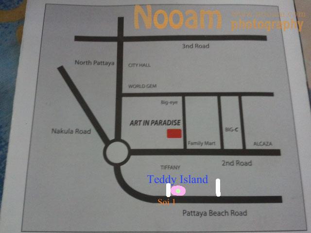 แผนที่ Teddy Island พัทยาเหนือ ชมหมีเท็ดดี้แบร์ Teddy bear พิพิธภัณฑ์ตุ๊กตาหมีส่งตรงจากเกาหลี