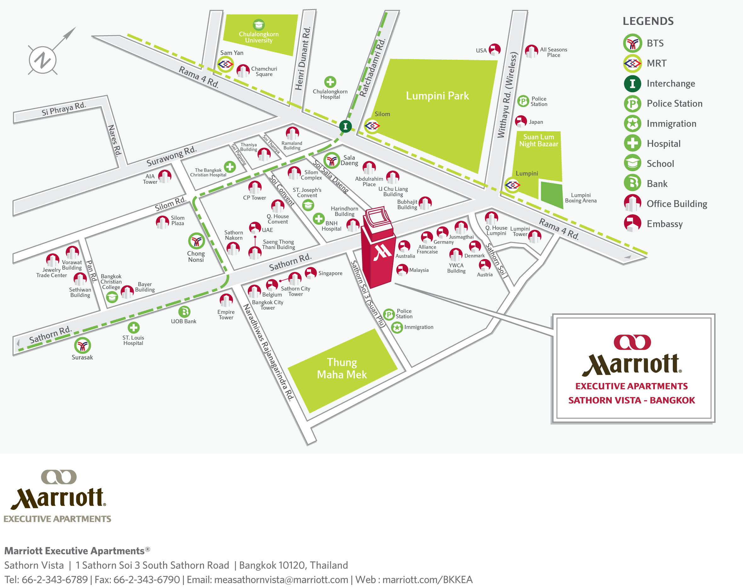 แผนที่ Maps Momo Cafe Marriot Executive Apartments Sathorn Vista Bangkok
