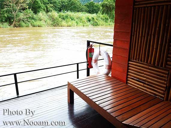 รีวิว โก๋ เมืองกาญจน์ พาราไดซ์ วิว รีสอร์ท กับแพริมแม่น้ำแควน้อย พักผ่อนใกล้ชิดธรรมชาติ และสนุกกับกิจกรรมทางน้ำ