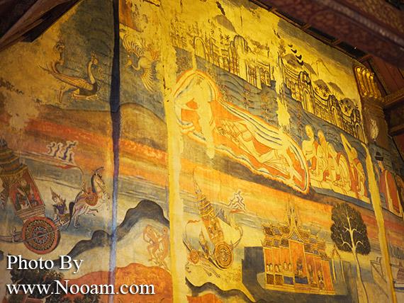 รีวิววัดภูมินทร์ น่าน ชมจิตรกรรมฝาผนัง ปูม่าน ย่าม่าน ภาพกระซิบรักที่ขึ้นชื่อ สุดแสนโรแมนติก